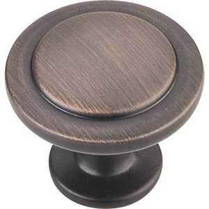 HARDWARE RESOURCES 3960-DBAC Gatsby Oil Rubbed Bronze Knob 1-1/4 in
