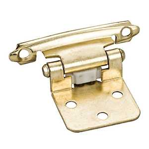 HARDWARE RESOURCES P5011PB Polished Brass Flush Hinge