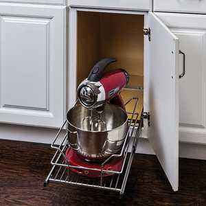 HARDWARE RESOURCES MBPO15-R Metal Basket Pullout Organizer For 15 in Base Cabinet