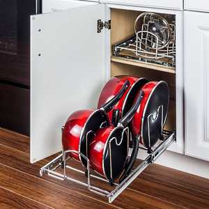 HARDWARE RESOURCES MPPO215-R Pots And Pans Organizer For 15 In Base Cabinet