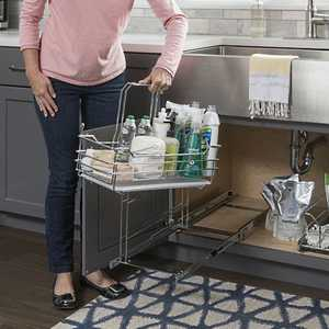 HARDWARE RESOURCES SCPO2-R Single Cleaning Supply Caddy Pullout