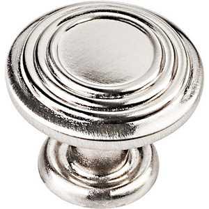 HARDWARE RESOURCES 110SN Vienna Satin Nickel Cabinet Knob 1-1/4 in