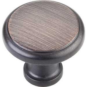 HARDWARE RESOURCES 3970-DBAC Gatsby Oil Rubbed Bronze Knob 1-1/8 in