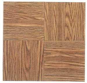 Heart Of America 12103P Ultrashine Plus 12x12 Finger Block Wood Vinyl Tile 40 Sq. Ft.