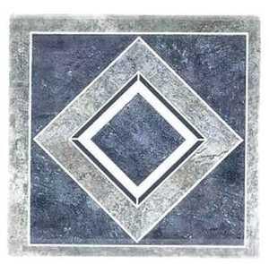 Heart Of America H-662P Ultrashine Plus 12x12 Blue Diamond Vinyl Tile 40 Sq. Ft.