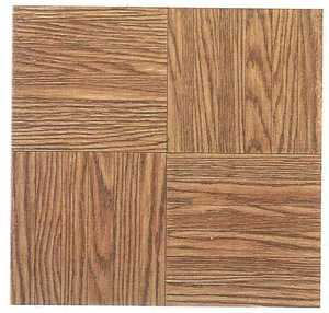 Heart Of America 12103 ULTRA 12-Inch X 12-Inch Ultrashine Finger Block Wood Vinyl Tile - Carton Of 45