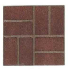 Heart Of America 85211 12-Inch X 12-Inch Ultrashine Red Brick Vinyl Tile - Carton Of 45