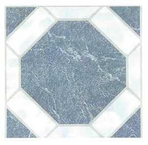 Heart Of America 02082B ULTRA 12-Inch X 12-Inch Ultrashine Blue Octagon Vinyl Tile - Carton Of 45