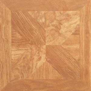 Heart Of America YS66T21-5 12-Inch X 12-Inch Ultrashine Fancy Wood Vinyl Tile - Carton Of 45