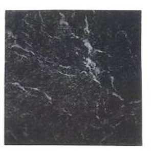 Heart Of America S16310 Stylesque 18x18 Black Marble Durable Vinyl Tile Carton Of 16