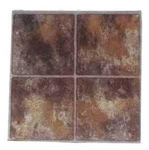 Heart Of America CL-3480 ULTRA 12-Inch X 12-Inch Ultrashine Brown Vinyl Tile - Carton Of 45