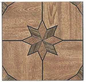 Heart Of America 32109 ULTRA 12-Inch X 12-Inch Ultrashine Starburst Wood Vinyl Tile - Carton Of 45