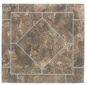 Heart Of America YS673-6 ULTRA 12-Inch X 12-Inch Ultrashine Rustic Brown Diamond Vinyl Tile - Carton Of 45