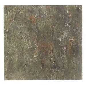 Heart Of America ESB00812B EARTH 12-Inch X 12-Inch Earthstone Taupe Slate Vinyl Tile - Carton Of 30