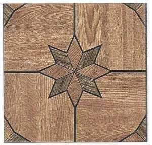 Heart Of America 32109 ULTRA 12-Inch X 12-Inch Ultrashine Starburst Wood Vinyl Tile