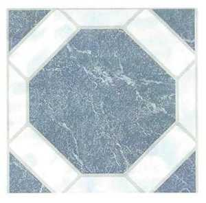 Heart Of America 02082B ULTRA Ultrashine 12x12 Blue Octagon Vinyl Tile Individual Tile