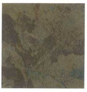 Heart Of America CL1110EVERSHINE 12-Inch X 12-Inch Evershine Rustic Brown/Teal Vinyl Tile
