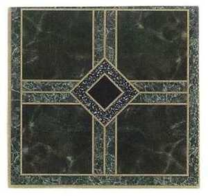 Heart Of America 02298-2R ULTRA Ultrashine 12x12 Dark Green Diamond Vinyl Tile Individual Tile
