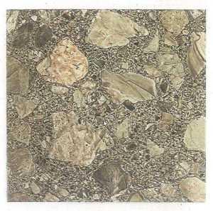 Heart Of America 01617 EVERSHINE 12-Inch X 12-Inch Evershine Brown Patio Stone Vinyl Tile