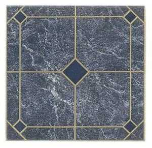 Heart Of America 60603 ULTRA Ultrashine 12x12 in Laid Blue Marble Vinyl Tile Individual Tile