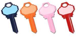 The Hillman Group 87498 Assorted Write-On-It House Key