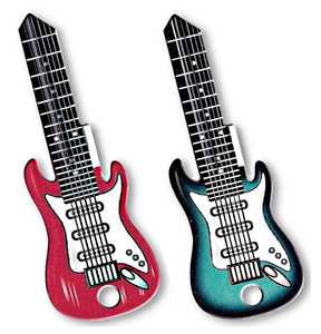 The Hillman Group 87470 Assorted Rockin' Keys Electric Guitar House Key