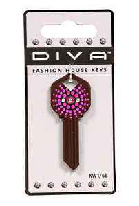 The Hillman Group 87028 Diva Pink Burst House Key