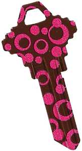 The Hillman Group 87396 Pink Polka Dot House Key