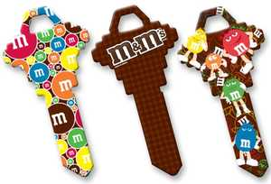The Hillman Group 87533 Assorted M And M's General Pattern House Key