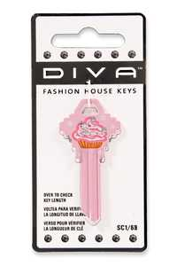 The Hillman Group 89575 Diva Cupcake House Key