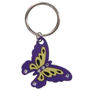 The Hillman Group 711396 Butterfly Purple Key Chain
