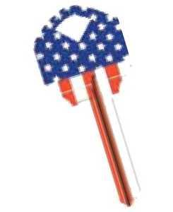 The Hillman Group 89879 Straight Flag House Key