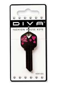 Hillman 87039 Diva Tail Heart Black Key - Kw1/66