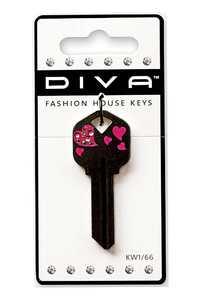 The Hillman Group 87039 Diva Tail Heart Black House Key