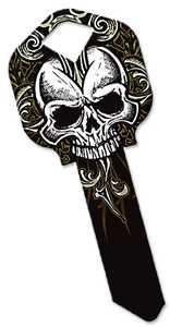 Hillman 87390 Goth Black Skull Key - Kw1/66
