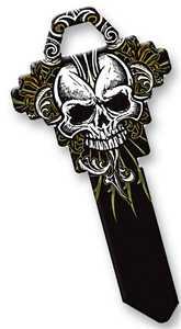 Hillman 89922 Goth Black Skull Key - Sc1/68