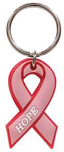 The Hillman Group 710999 Breast Cancer Awareness Ribbon Key Chain