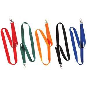The Hillman Group 712181 Assorted 20-Inch Solid Color Neck Lanyards