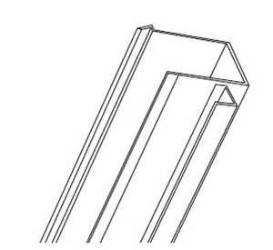 Hillman 854213 14 Ft Vertical Door Frame Aluminum White