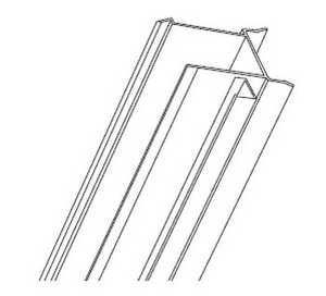Hillman 854218 14 Ft Vertical Door Frame H Aluminum White