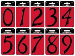 Hillman 841616 #0 - 4 in Black Die-Cast Aluminum Numbers