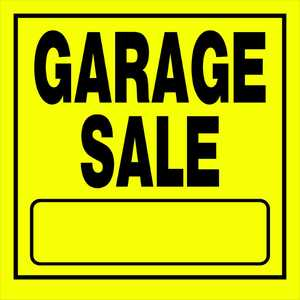 Hillman 840169 Garage Sale Sign 11x11 Yellow