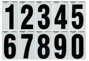 Hillman 844102 #6 - 5-1/4 in Black On Silver Reflective Square-Cut Mylar