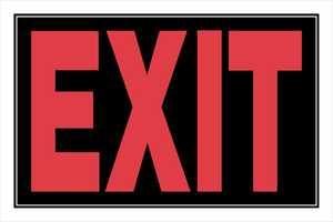 Hillman 839892 Exit Sign 8x12