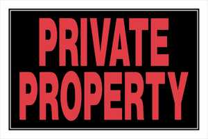 Hillman 839908 Private Property Sign 8x12