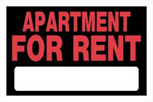 Hillman 839922 Apartment For Rent Sign 8x12