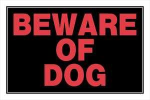 Hillman 839924 Beware Of Dog Sign 8x12
