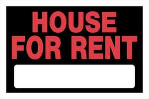 Hillman 839934 House For Rent Sign 8x12