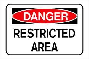 Hillman 839976 Danger Restrict Area Sign 8x12
