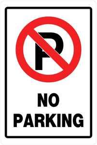 Hillman 840014 No Parking Sign 18x12 Red/Black/White